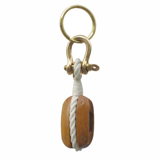 Blockrolle-Schlüsselanhänger