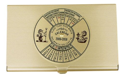 Visitenkartenbox mit Dauerkalender