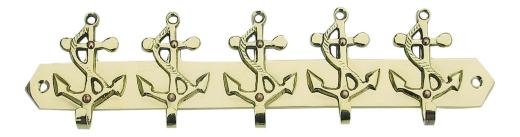 Schlüsselhaken mit 5 Ankern