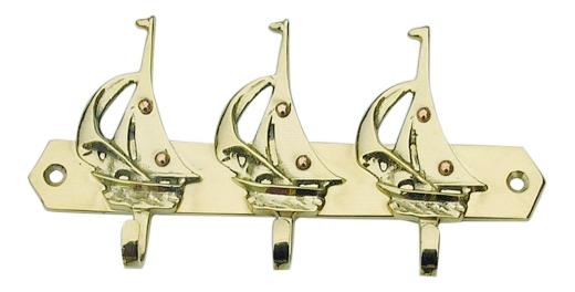 Schlüsselhaken mit 3 Segelbooten
