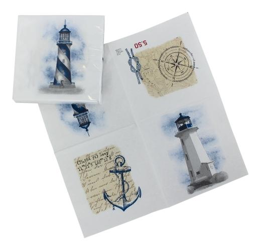 Servietten - Leuchtturm