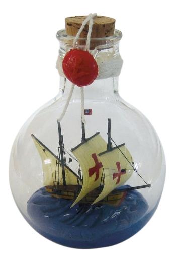 Flaschenschiff - SANTA MARIA