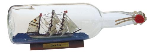 Flaschenschiff - Gorch Fock