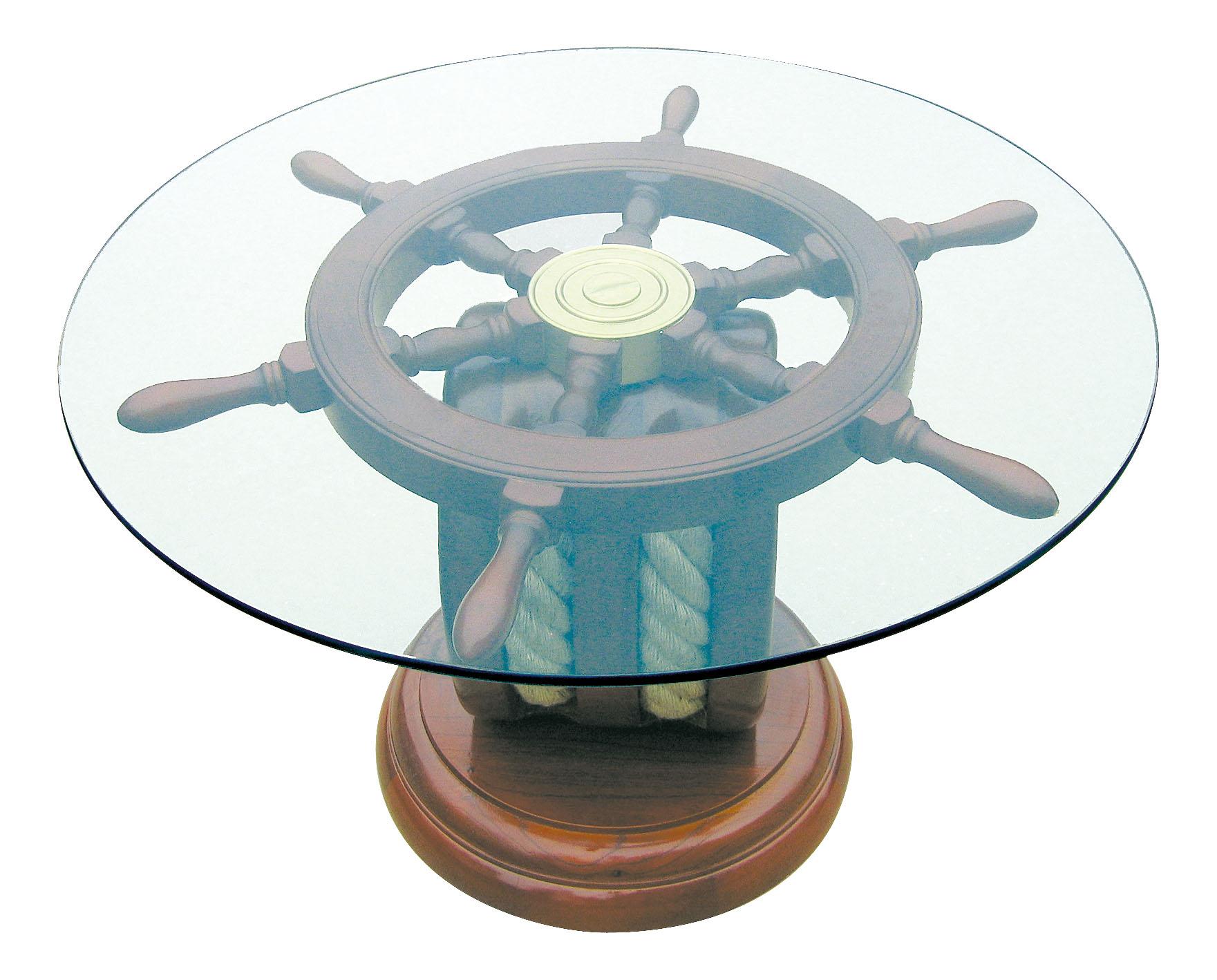 Steuerradtisch block perfekt f r die maritime for Maritime wohnaccessoires