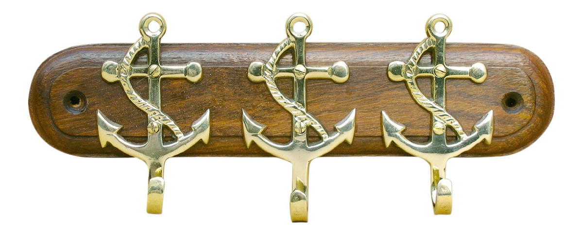 Schl sselhaken 3 anker sea4you maritime deko und for Maritime wohnaccessoires