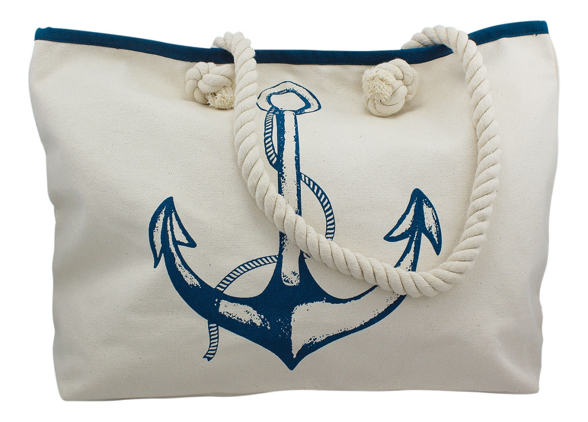 Rabatt-Verkauf Neues Produkt glatt Shopping-Tasche mit Anker-Motiv