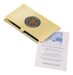 Visitenkartenbox - Kompassrose