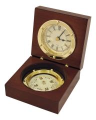 Uhr & Kompass in der Holzbox