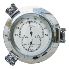 Thermo- & Hygrometer im Bullauge