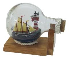 Flaschenschiff - Leuchtturm