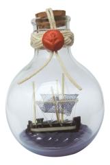 Flaschenschiff - Kutter