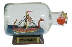 Flaschenschiff - Wikinger
