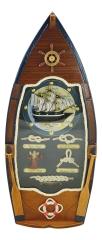 Schlüsselkasten mit Knoten in Bootsform