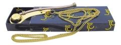 Bootsmannpfeife Messing-Kupfer, 12 cm