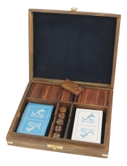 Domino-Würfel-Karten-Box aus Holz