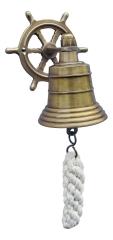 Glocke mit Steuerrad-Wandhalterung