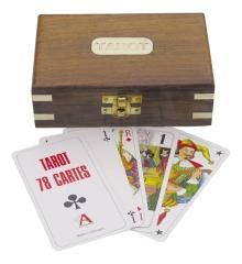 Tarot-Kartenspiel in der Holzbox