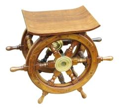 Hocker Tisch Schiff Boot Steuerrad