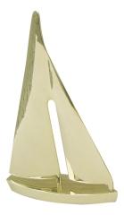 Segelyacht Messing, 31 cm
