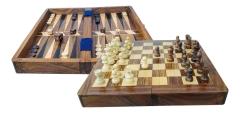 Schach und Backgammon 25 x 25 cm