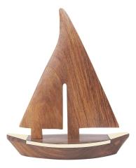 Segelboot, Holz, 27,5 cm